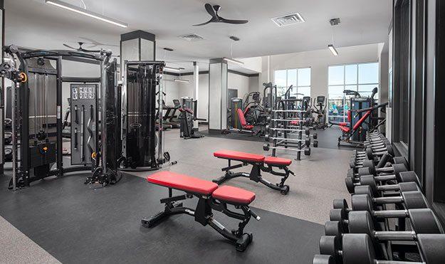 High-Tech Fitness Facility